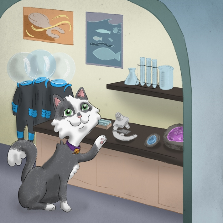 Lila the Science Cat children's book illustrated by Grace Anderson