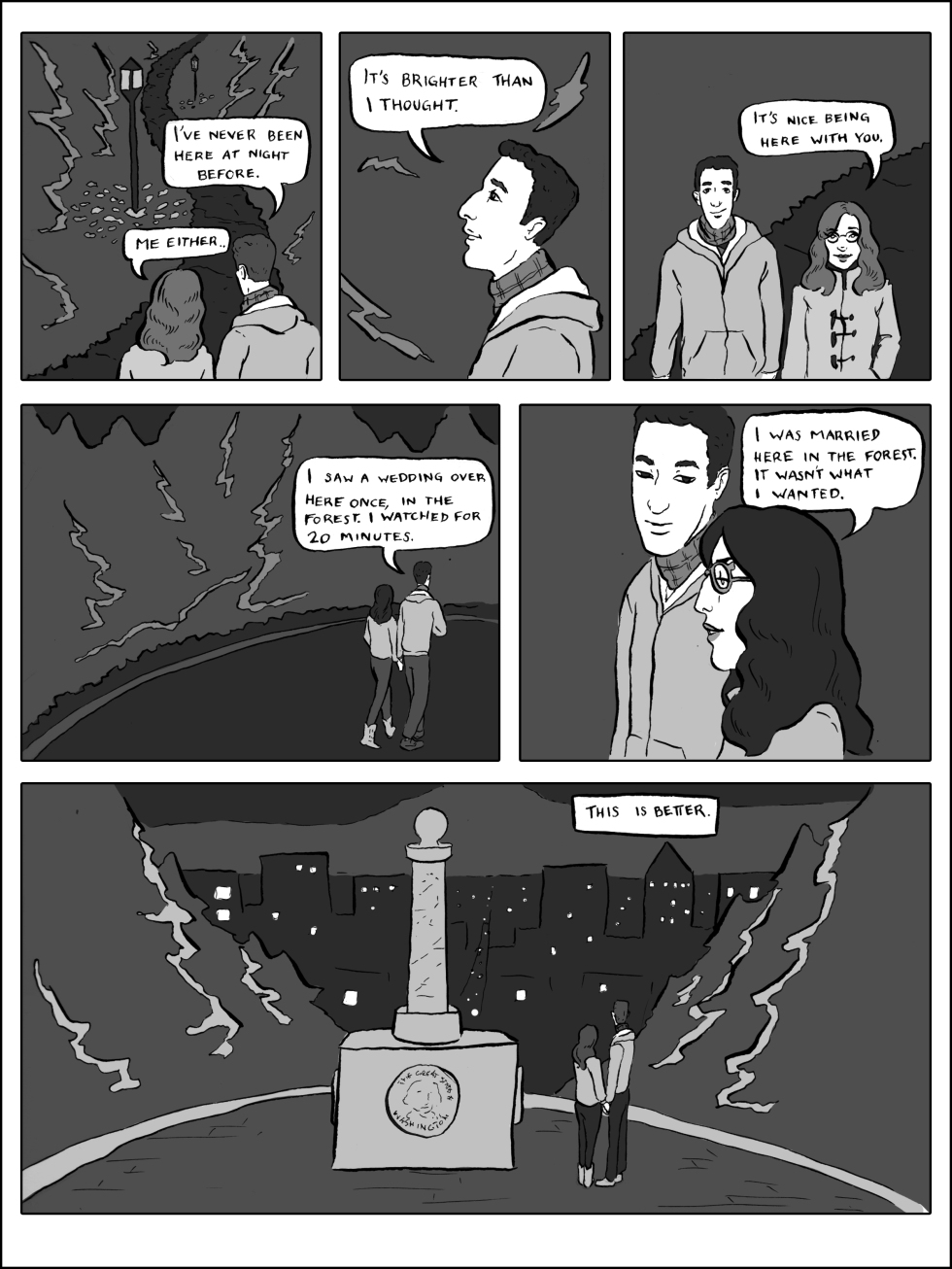Night Walk comic illustrated by Grace Anderson