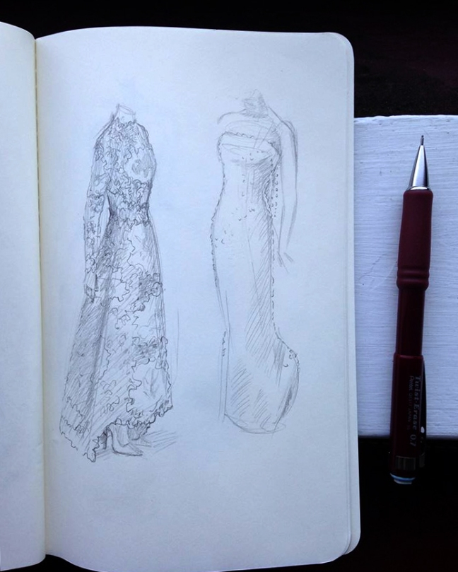 italian fashion sketch by Grace Anderson