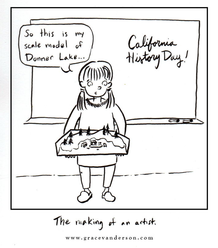 Donner Party Cartoon Grace Anderson