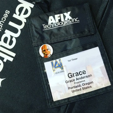 When your name is on a badge, things are getting real.