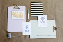 Stationery design & styled product photo- some designs carried by ModernTribe.com
